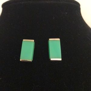 Genuine sterling silver turquoise earrings